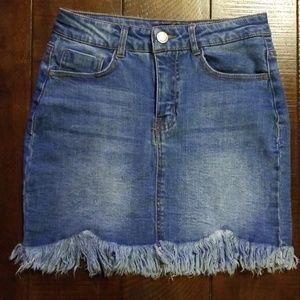 Black label blue jean Skirt